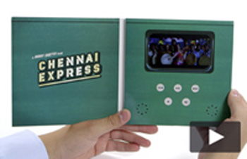 4.3 inch softback video brochure