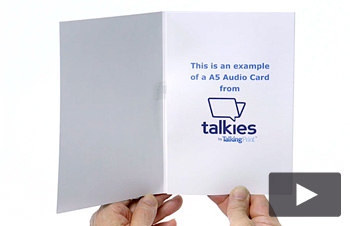 A5 Audio card, 30 second audio, Print on Demand, Personalised